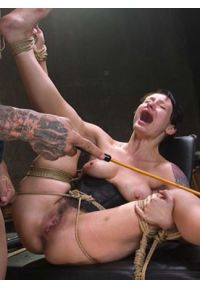 Petite Pain Slut Violet Monroe in Rope Bondage and Brutal Anal Fucking